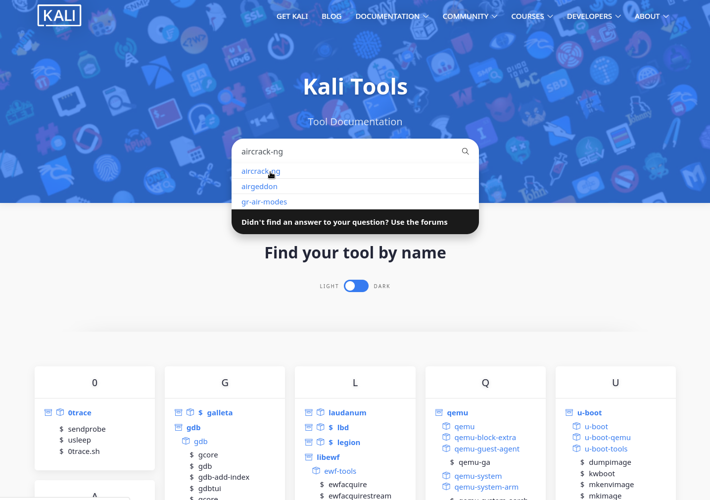 Kali tools