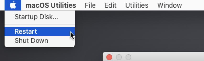 rebooting macOS