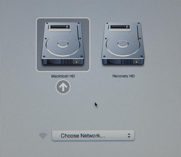 Mac OSX reccovery menu