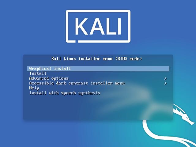 kali linux install