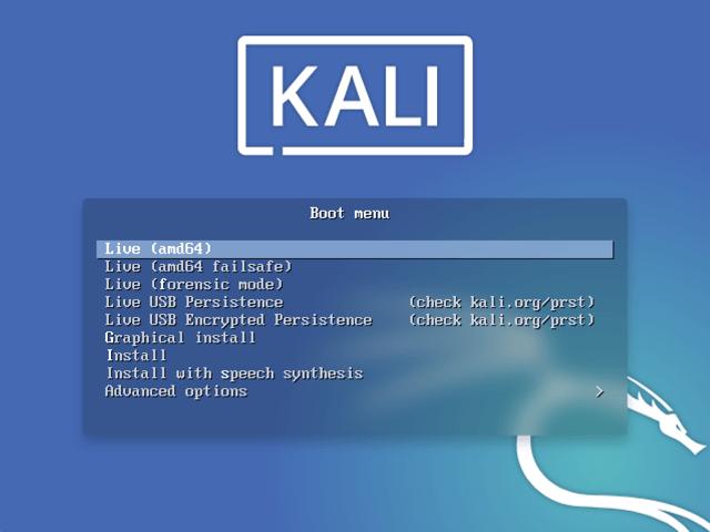 Kali Linux Live Image
